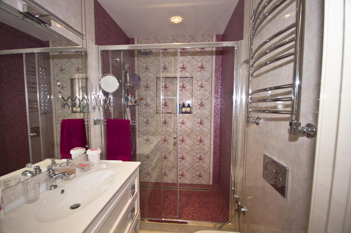 Ремонт трехкомнатной квартиры по адресу Ломоносовский просп., 5 ЖК Доминион, площадью 78 кв.м. ванная