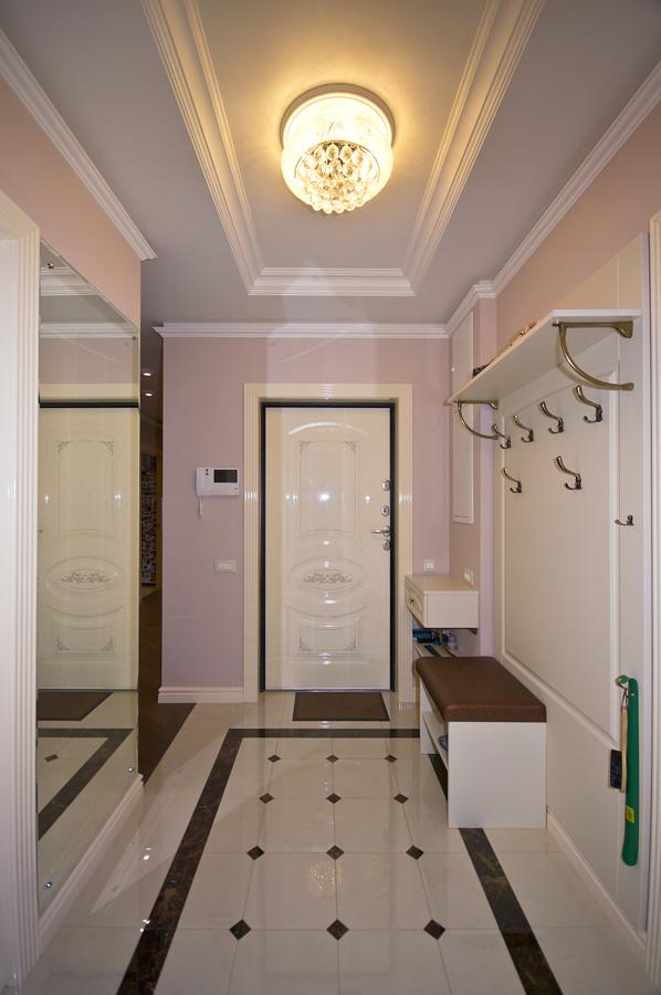 Ремонт трехкомнатной квартиры по адресу Ломоносовский просп., 5 ЖК Доминион, площадью 78 кв.м. прихожая