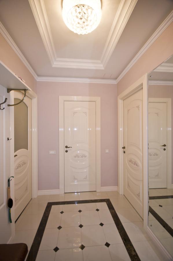 Ремонт трехкомнатной квартиры по адресу Ломоносовский просп., 5 ЖК Доминион, площадью 78 кв.м. коридор