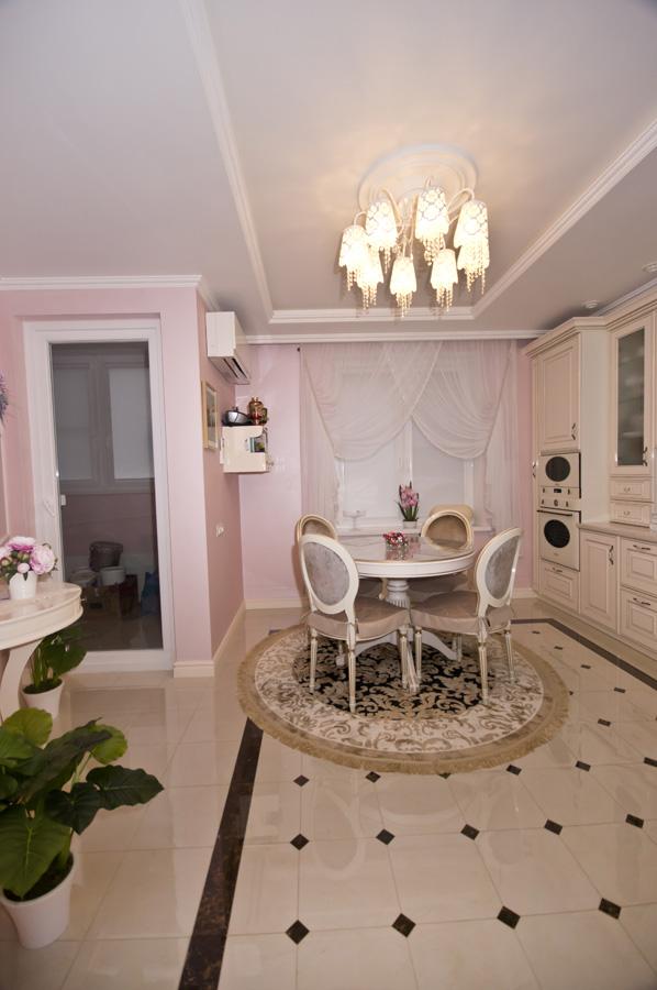 Ремонт трехкомнатной квартиры по адресу Ломоносовский просп., 5 ЖК Доминион, площадью 78 кв.м. кухня